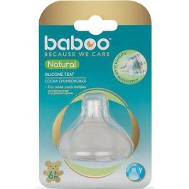 Baboo Соска силиконовая для густых жидкостей Baboo Natural с 6 мес