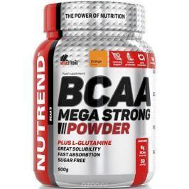 Аминокислотный комплекс Nutrend BCAA Mega Strong Powder, 500 г, orange
