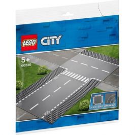 LEGO Конструктор LEGO City Supplementary 60236: Прямой и Т-образный перекрёсток
