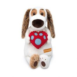 Budi Basa Мягкая игрушка Budi Basa Собака Бартоломей с сердцем, 33 см