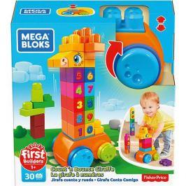 Mattel Конструктор Mega Bloks First Builders Жираф 123