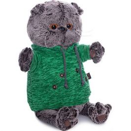 Budi Basa Мягкая игрушка Budi Basa Кот Басик в зеленой толстовке с карманом-кенгуру, 22 см