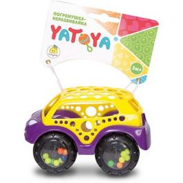 ЯиГрушка Машинка-неразбивайка ЯиГрушка Yatoya, жёлто-фиолетовая