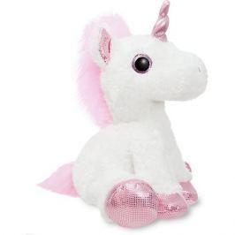 AURORA Мягкая игрушка Aurora Единорог, розовый, 30 см