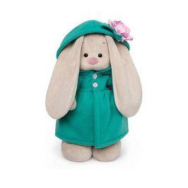 Budi Basa Мягкая игрушка Budi Basa Зайка Ми в изумрудном пальто с розовым цветочком, 25 см