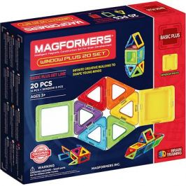 MAGFORMERS Магнитный конструктор 715001 Window Plus Set 20 set, MAGFORMERS