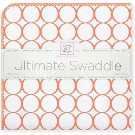 SwaddleDesigns Фланелевая пеленка SwaddleDesigns Orange Mod, 110х110 см