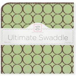 SwaddleDesigns Фланелевая пеленка SwaddleDesigns Lime, 110х110 см
