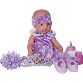 Junfa Toys Кукла-пупс Junfa Toys в корзинке, с акссесуарами