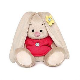 Budi Basa Мягкая игрушка Budi Basa Зайка Ми в малиновой футболке с пуговкой, 15 см