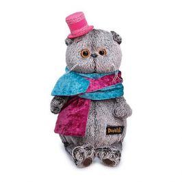 Budi Basa Мягкая игрушка Budi Basa Кот Басик в бархатном кашне, 25 см