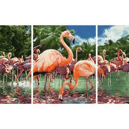Schipper Картина по номерам Schipper Триптих: Фламинго, 50х80 см
