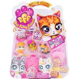 Best Furry Friends Коллекционные фигурки Best Furry Friends с розовой в желтую крапинку сумкой-переноской