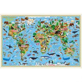 ГеоДом Карта Мира настенная Геодом «Наша планета. Животный и растительный мир»