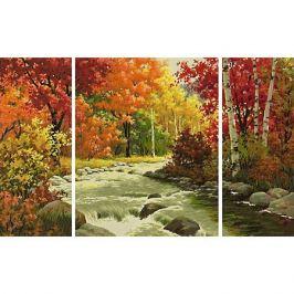 Schipper Картина по номерам Schipper Триптих: Осенний поток, 50х80 см