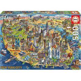 Educa Пазл Educa Карта Нью-Йорка, 500 элементов