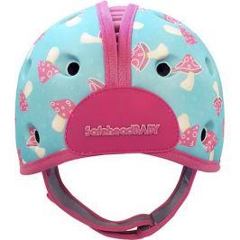SafeheadBABY Мягкая шапка-шлем для защиты головы Safehead Baby Грибы, мятно-розовый