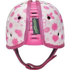 SafeheadBABY Мягкая шапка-шлем для защиты головы Safehead Baby Бабочка, бело-розовый
