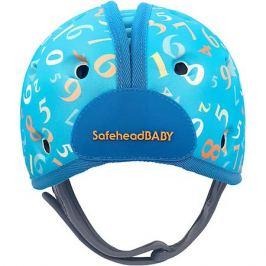 SafeheadBABY Мягкая шапка-шлем для защиты головы Safehead Baby Числа, синий