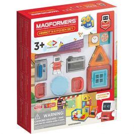 MAGFORMERS Магнитный конструктор MAGFORMERS Minibot's Kitchen Set, 33 элемента