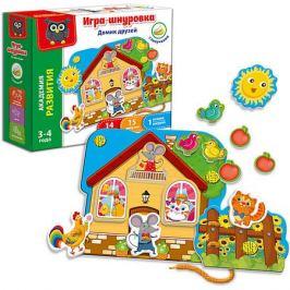 Vladi Toys Игра-шнуровка с липучками Vladi Toys