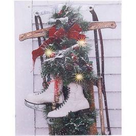 House of Seasons Рождественская картина House of seasons с санками