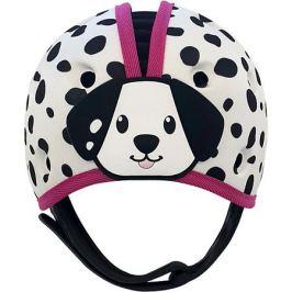 SafeheadBABY Мягкая шапка-шлем для защиты головы Safehead Baby Далматин, бело-розовый