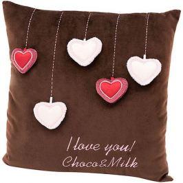 Orange Мягкая игрушка Orange Choco&Milk Подушка Мишка Choco: Сердечки