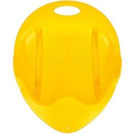 Пластик Санки-ледянка Снежный гонщик, желтые