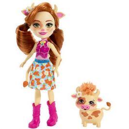 Mattel Кукла с любимой зверюшкой Enchantimals, Кейли Кау и Кардл