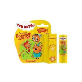 - Детский бальзам для губ Три кота «Яблочный» с оливковым маслом