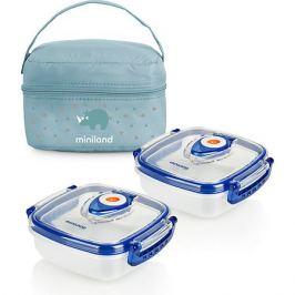 Miniland Термосумка Miniland Pack-2-Go HermifFresh с вакуумными контейнерами, голубая