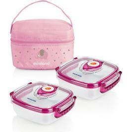 Miniland Термосумка Miniland Pack-2-Go HermifFresh с вакуумными контейнерами, розовая