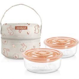 Miniland Термосумка Miniland Pack-2-Go Naturround Bunny со стеклянными контейнерами