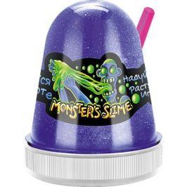 KiKi Светящийся слайм Monster Slime синий, 130 гр