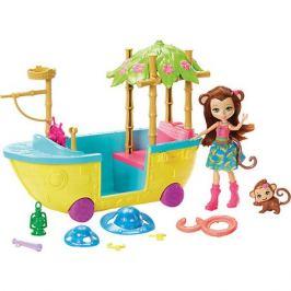 Mattel Игровой набор Enchantimals Мерит Мартыша и джунгли-лодка
