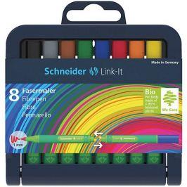 - Набор капиллярных фломастеров Schneider Link-It, 8 цветов