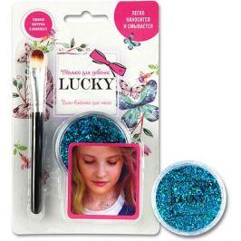 1Toy Гель-блестки Lucky для тела/лица, голубой, 25 мл