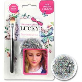 1Toy Гель-блестки Lucky для тела/лица, серебряный, 25 мл
