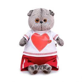 Budi Basa Мягкая игрушка Budi Basa Кот Басик в футболке с сердцем, 19 см