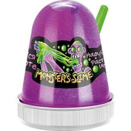 KiKi Светящийся слайм Monster Slime сиреневый, 130 гр
