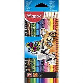 Maped Набор цветных карандаей Maped Color'peps Animals с декором, 12 цветов