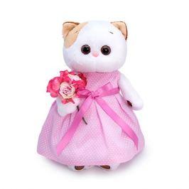 Budi Basa Мягкая игрушка Budi Basa Кошечка Ли-Ли в розовом платье с букетом, 24 см