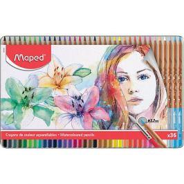 Maped Акварельные карандаши Maped Artist с кисточкой, 36 цветов