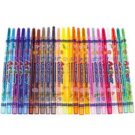 Crown Карандаши восковые Crown «ArtStory», 24 цвета