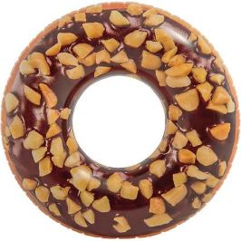 Intex Большой надувной круг Intex Шоколадный пончик с орехами