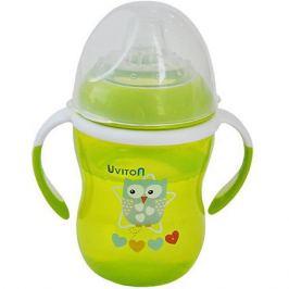 Uviton Baby Поильник-непроливайка Uviton Baby Soft, 250 мл, зелёный