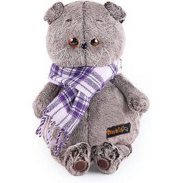 Budi Basa Мягкая игрушка Budi Basa Кот Басик в фиолетовом шарфе, 25 см