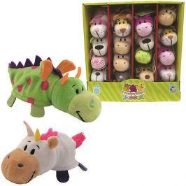 1Toy Мягкая игрушка-вывернушка 1toy Единорог - Дракон, 12 см
