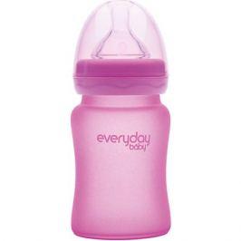 - Стеклянная бутылочка с индикатором температуры EveryDay Baby 150 мл, розовая